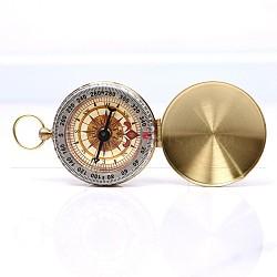 Brass Luminous Compass, with Acrylic Glass, Golden, 70~120x50x12~15mm(WACH-I0018-1)