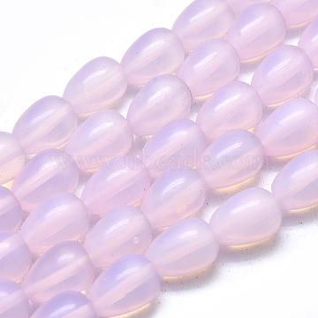 Opalite Beads Strands, Teardrop, 13.5x9.5mm, Hole: 1mm; about 28pcs/strand, 14.76''(37.5cm)(X-G-L557-39C)