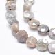 Electroplate Natural Sunstone Beads Strands(G-K256-20A)-3