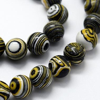 Synthetic Malachite Beads Strands(X-G-I199-32-8mm-B)-3