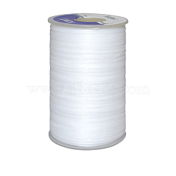 Waxed Polyester Cord, White, 0.65mm, about 21.87 yards(20m)/roll(YC-E006-0.65mm-A01)