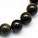 Natural Golden Sheen Obsidian Round Beads Strands(X-G-S157-6mm)-1
