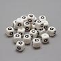 12mm Blanc Cube Silicone Perles(SIL-R001-Q)