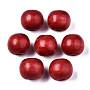 FireBrick Round Wood Beads(WOOD-ZX040-01B-03-LF)