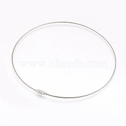 """304 fabrication de bracelets en acier inoxydable, deux boucles, avec des agrafes, couleur inoxydable, 18.3"""" (46.5 cm), 1.5mm(BJEW-I267-004B)"""