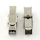 Smooth Surface 201 Stainless Steel Watch Band Clasps(STAS-R063-89)-1