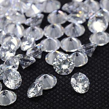 1mm Clear Diamond Cubic Zirconia Cabochons