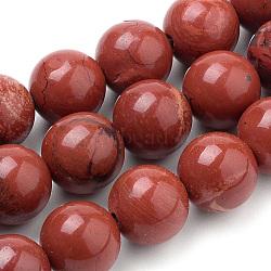 """Chapelets de perles en jaspe rouge naturel, rond, 8mm, trou: 1mm; environ 50 pcs/chapelet, 15.7""""(G-S259-29-8mm)"""