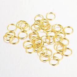 près de fer, mais les anneaux de saut dessouder, sans nickel, or, 5x0.7 mm; environ le diamètre intérieur de 3.6 mm; environ 570 pcs / 20 g(X-IFIN-A018-5mm-01G-NF)