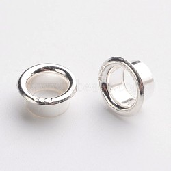 925 Sterling Silver European Cores, Silver, 8.5x3.5mm, Hole: 5mm(OPDL-F003-01)