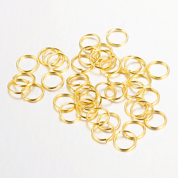 Golden Ring Iron Close but Unsoldered Jump Rings