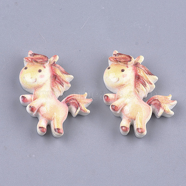 24mm Colorful Horse Resin Cabochons