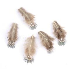 аксессуары костюма цыпленка перо, окрашенный, светло-серый, 55~72x20~27 mm(X-FIND-Q046-07)