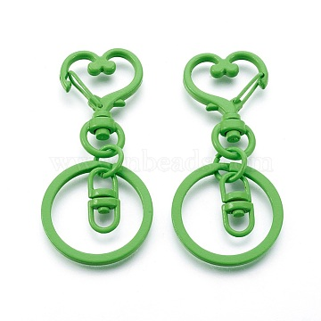 LimeGreen Heart Iron Clasps