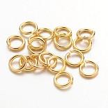 Golden Ring Brass Close but Unsoldered Jump Rings(JRC6MM-G)
