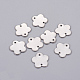 304 Stainless Steel Flower Blank Stamping Tag Links(X-STAS-H041-1)-1