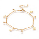 304 Stainless Steel Charm Anklets(AJEW-O028-04G)-1