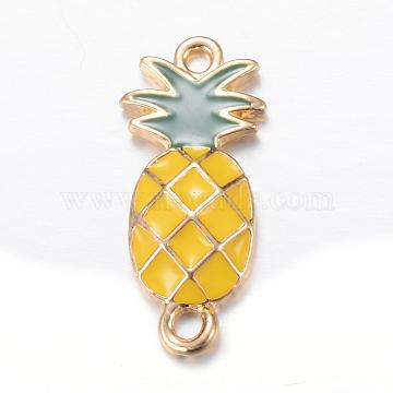 Light Gold Fruit Alloy+Enamel Links