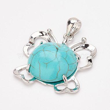 Synthetic Turquoise Pendants and Dangle Earrings Jewelry Sets(SJEW-F145-01P)-3