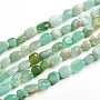 Natural Australia Jade Beads Strands, Nuggets, 6.5~9.5x5.5~7.5x3.5~5.5mm, Hole: 0.8mm; about 50pcs/Strand, 15.67''(39.8cm)