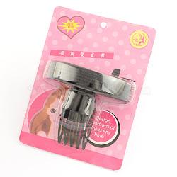 Des coups de cheveux en plastique moelleux outils de coiffage des cheveux, noir, 80x90x40mm(OHAR-R095-46)