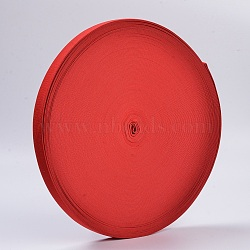 Colored Flat Elastic Rubber Band, Webbing Garment Sewing Accessories, Red, 25mm; 40m/roll(EC-WH0002-05)