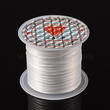 Fil de fibre élastique, teint, blanc, 0.8mm, 11m/rouleau(X-EW014)