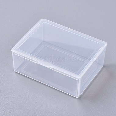 Clear Rectangle Plastic Beads Containers