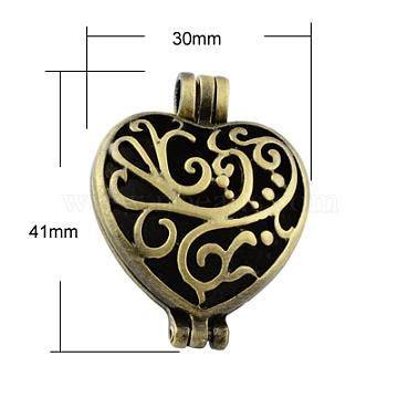 Antique Bronze Heart Alloy Pendants