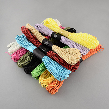 Mixed Color Twisted Paper Cord, For Paper Craft, Mixed Color, 1.5mm, about 393.7 yards(360m)/bag(DIY-S003-03-30m)