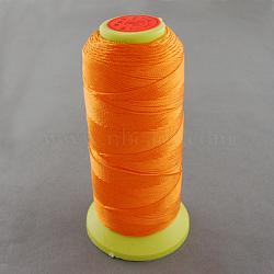 Fil à coudre de nylon, orange foncé, 0.8mm, environ 300 m / bibone (NWIR-Q005-19)