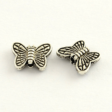 11mm Butterfly Alloy Beads