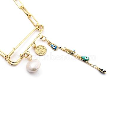 Evil Eye Brass Enamel Pendant Necklaces(NJEW-JN03053-02)-3
