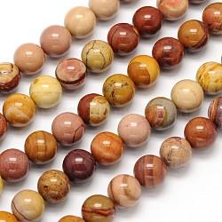 """Mookaite naturel chapelets de perles rondes, 8mm, trou: 1mm; environ 49 pcs/chapelet, 15.5""""(G-N0166-09-8mm)"""