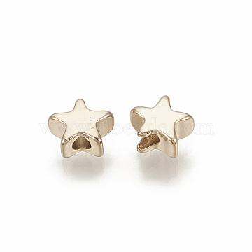 Light Gold Star Brass Spacer Beads