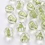 Transparent Acrylic Beads, Pumpkin, Yellow Green, 17.5x16mm, Hole: 2mm, about 183pcs/500g