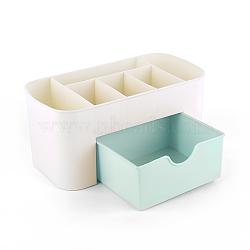 boîte à outils en plastique nail art, boîte de rangement de maquillage, paleturquoise, 22.8x11x10.5 cm(MRMJ-Q034-011B)