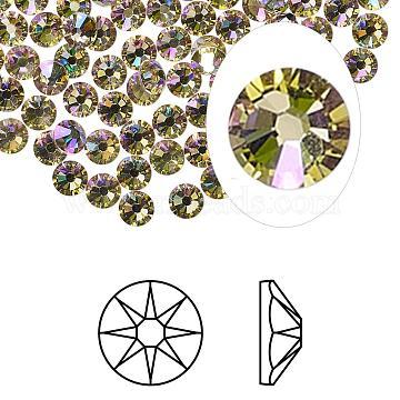 Austrian Crystal Rhinestone, 2088, Crystal Passions, Foil Back, Xirius Rose, 001 LUMG_Crystal Luminous Green, 7.069~7.272mm(2088-SS34-001LUMG(F))