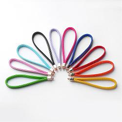 Multifunction Imitation Leather Mobile Straps, with Aluminum Findings, Mixed Color, 116x8x3mm, Hole: 3mm(MOBA-J003-M)