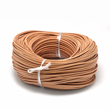 Flat Leather Cords, DIY Rope for Bracelet Necklace Jewelry Making, Sandy Brown, 3x2mm(X-WL-R006-3x2-02)