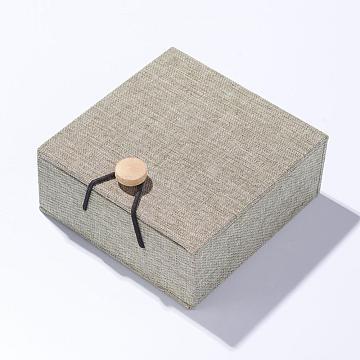 DarkKhaki Square Cloth Pendant Box