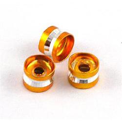 Aluminum Bead, Tubbish, Golden Color, about 6mm wide, 4mm long; hole: 2mm; about 1000pcs/bag(AR6x4mm002)