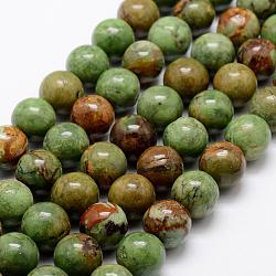 """Chapelets de perles en opale vert naturel, rond, 8~9mm, trou: 1mm; environ 47 pcs/chapelet, 15.1""""(G-K209-04B-8mm)"""