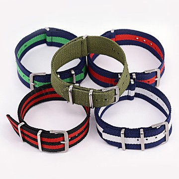 Mixed Color Nylon Watch Band