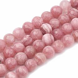 """Chapelets de perles en rhodochrosite naturelle, teint, rond, 10mm, trou: 1mm; environ 40 pcs/chapelet, 15.7""""(G-S333-10mm-007)"""