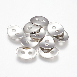 304 кнопка из нержавеющей стали, овальные, цвет нержавеющей стали, 13.5x10.5x1.5 мм, отверстие : 2 мм(STAS-K149-18P)