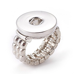 Регулируемая легкосплавные компоненты стопорное кольцо, с латунной снимки, платина, 19 мм; половина отверстие: 6 мм(PALLOY-R009)