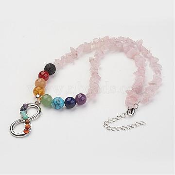 Mixed Color Mixed Stone Necklaces