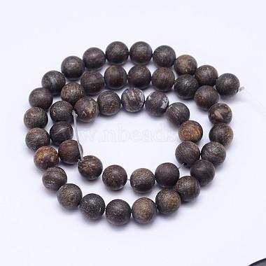 Natural Bronzite Beads Strands(G-D745-8mm)-2