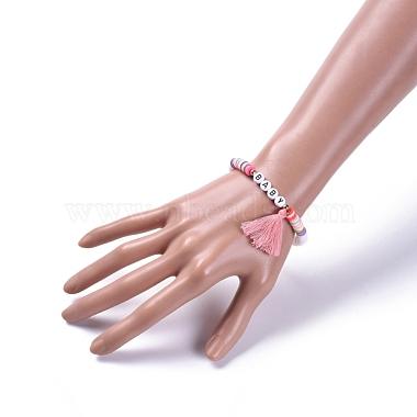 Handmade Polymer Clay Heishi Beads Stretch Bracelets(BJEW-JB05086-01)-4